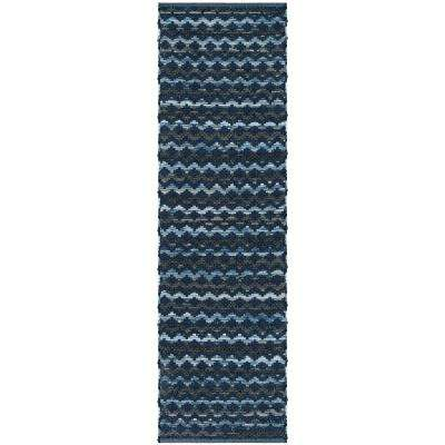 Montauk Turquoise/Blue/Black 2 ft. 3 in. x 8 ft. Runner Rug