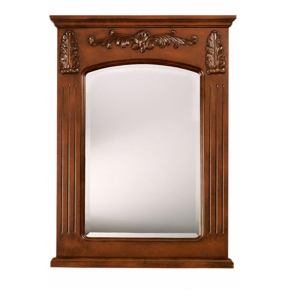 Home Decorators Collection Chelsea 35 in. H x 26 in. W Rectangular Single Mirror in Antique Cherry-DISCONTINUED