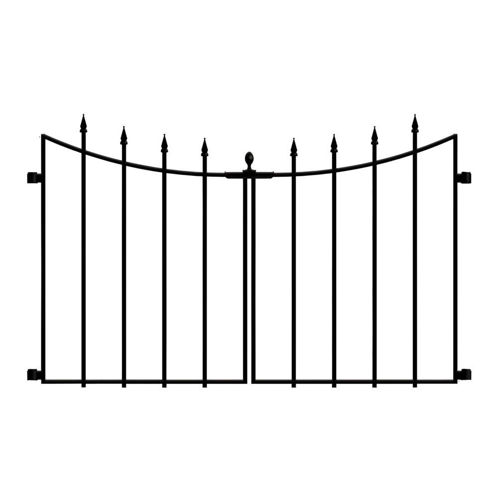 Hampton Bay Empire Westbrook 28 In Black Steel Decorative Fence