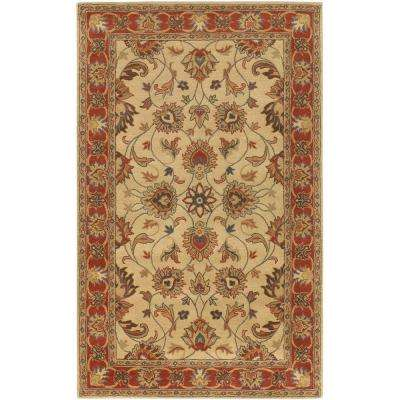 John Beige 4 ft. x 6 ft. Area Rug