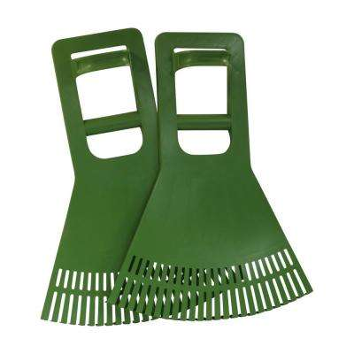 Premium Quality USA Leaf Claw Pick-Up Scoops With Power Dynamics Extended Grip for Leaves, Grass, Lawn, Twigs, or Debris