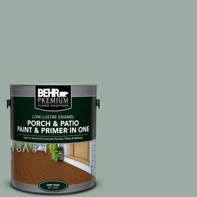 1 gal. #N420-3 Misty Moss Low-Lustre Interior/Exterior Paint and Primer In One Porch and Patio Floor Paint