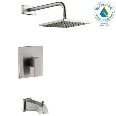 Marx Single-Handle 1-Spray Tub and Shower Faucet in Brushed Nickel (Valve Included)