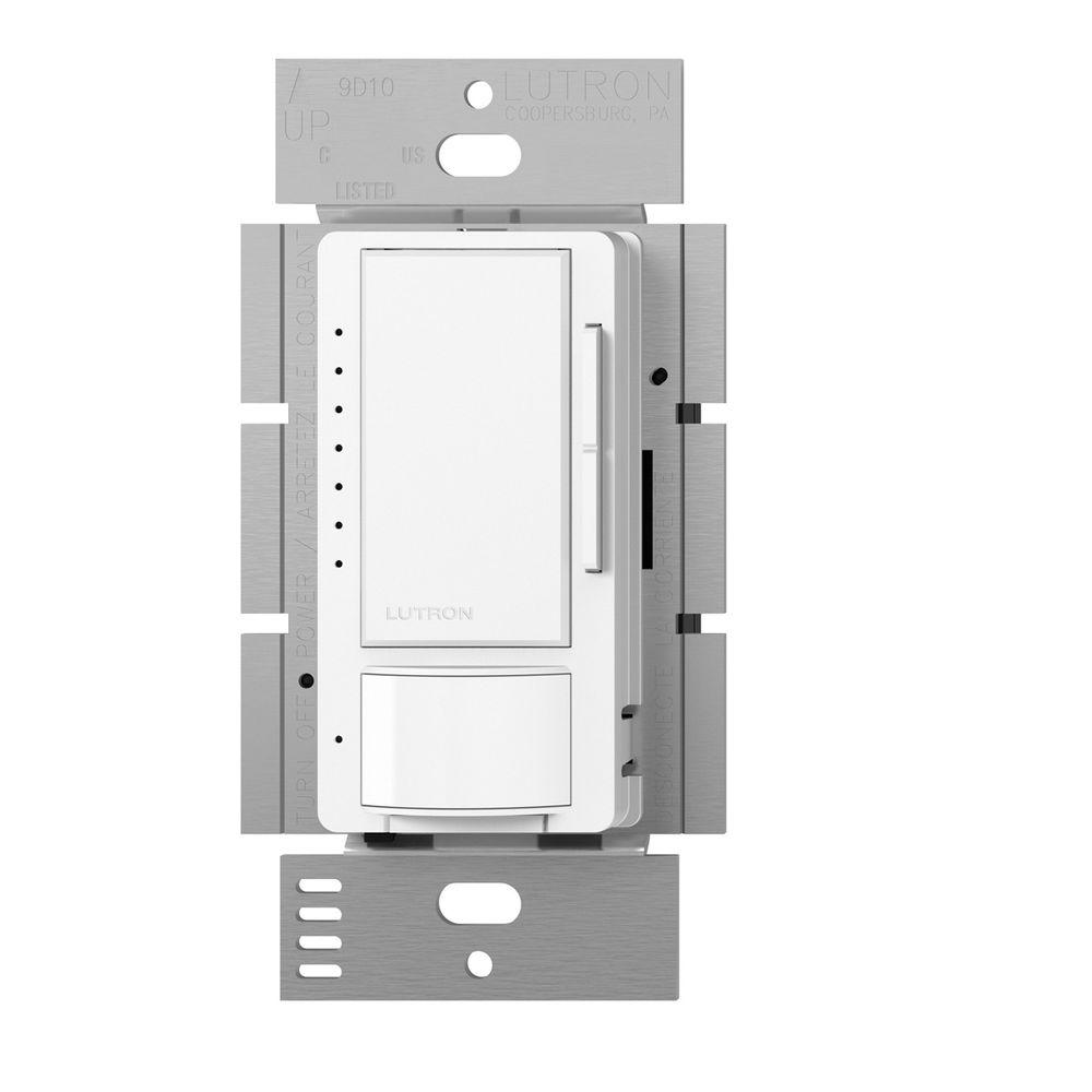 Lutron Maestro C.L Dimmer and Motion Sensor, Single Pole and Multi-Location, Snow