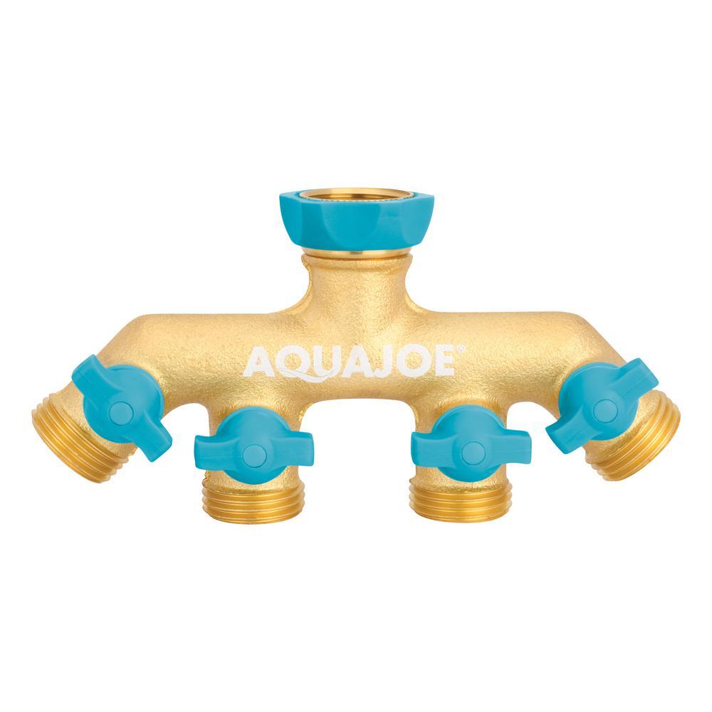 AQUA JOE 4-Way Garden Hose Splitter