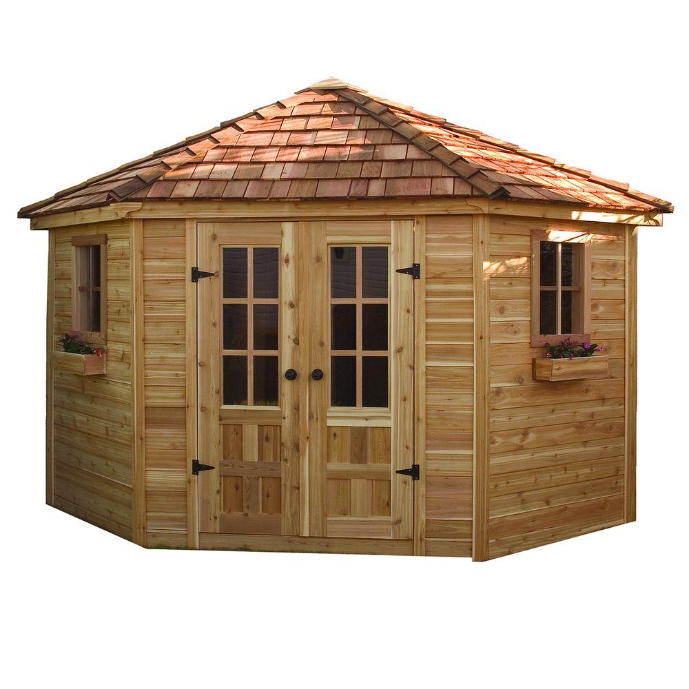 Outdoor Living Today 9 ft. x 9 ft. Penthouse Cedar Garden Shed