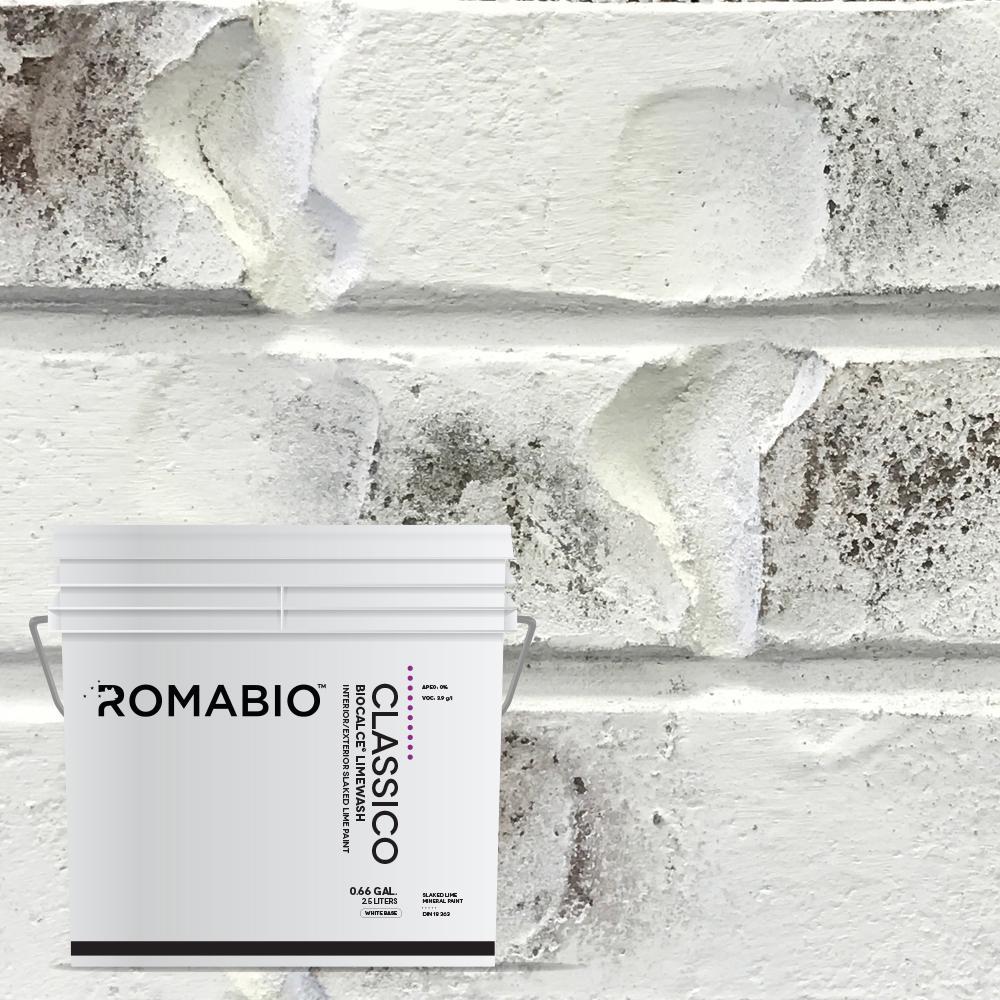 0.67 Gal. Bianco White Limewash Interior/Exterior Paint