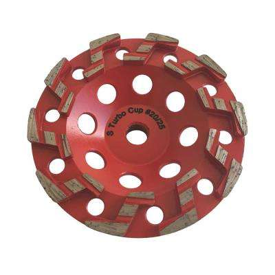 5 in. Aggressive S Segment Diamond Grinding Wheel for Concrete Grinding and Coating Removal 5/8 in. Threaded Arbor