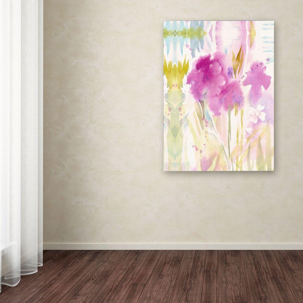 Trademark Fine Art 24 in. x 18 in. Magenta Shadows Canvas Art