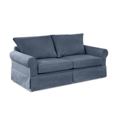 Addison 74 in. Denim Fabric 2-Seater Full Sleeper Sofa Bed with Removable Cushions