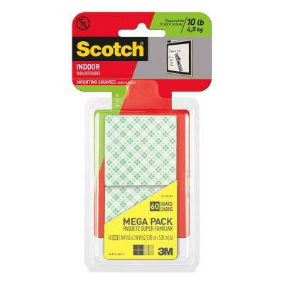 Scotch 2 in. x 2 in. Permanent Double Sided Indoor Mounting Squares Megapack (60-Pack)