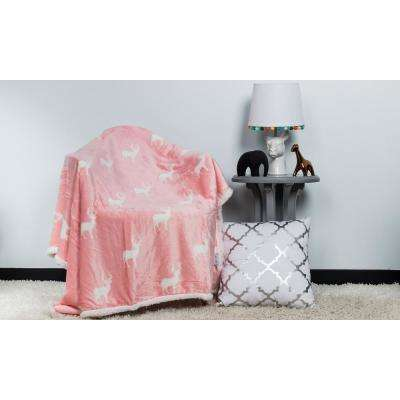 Finn Bubble Gum Pink Sherpa Throw