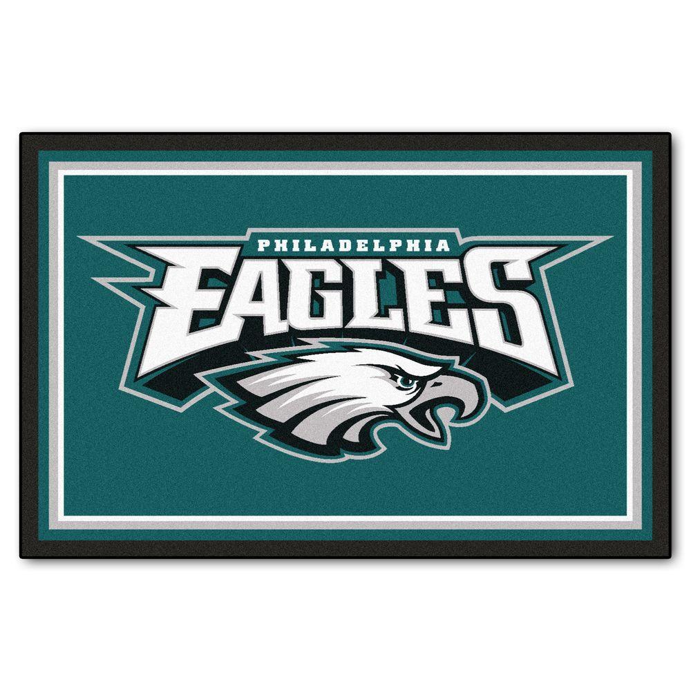 FANMATS Philadelphia Eagles 5 ft. x 8 ft. Area Rug
