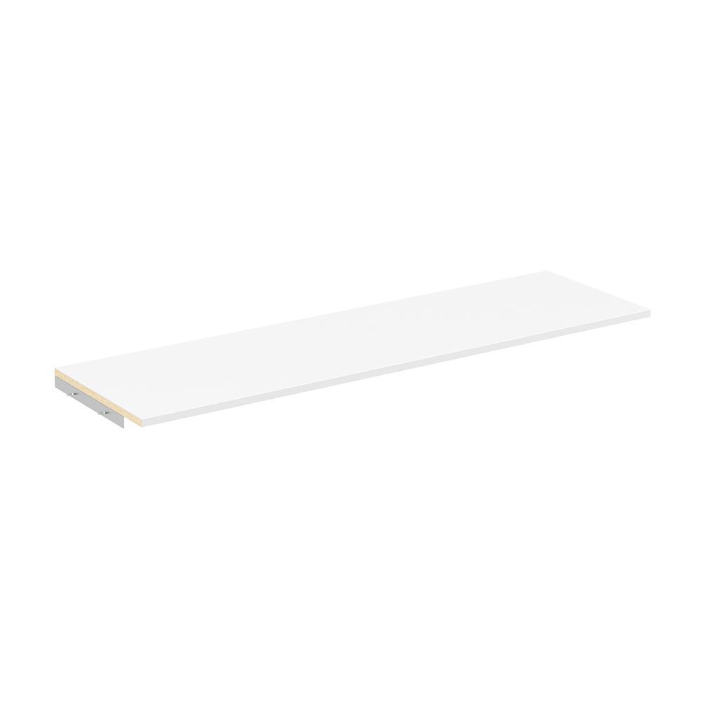 closetmaid style 14 in d x 48 in w white melamine top shelf kit rh homedepot com