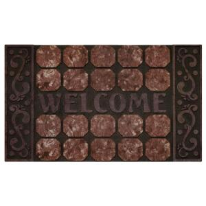 Achim Octagon Squares 18 inch x 30 inch Raised Rubber Door Mat by Achim