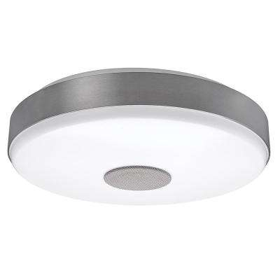 Soft white flushmount lights lighting the home depot brushed nickel bluetooth speaker bright white color temperature integrated led flushmount ceiling light aloadofball Image collections