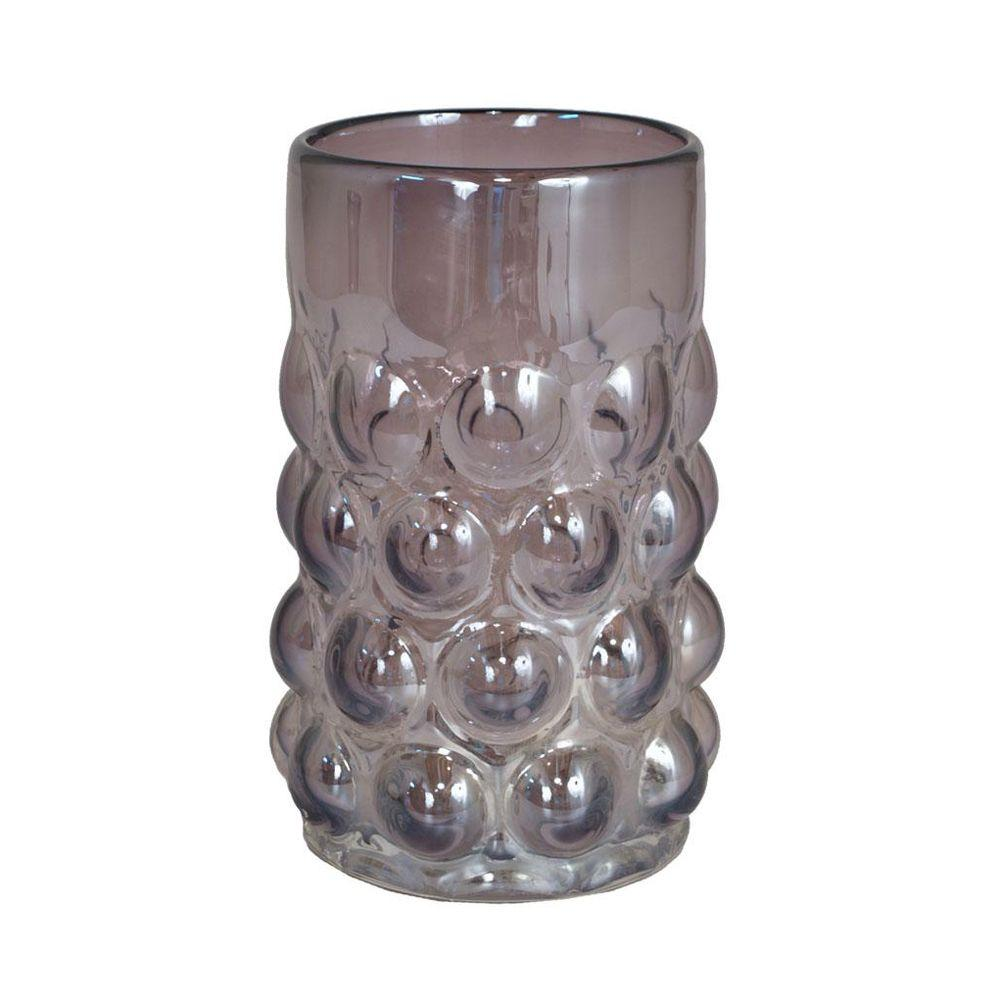 Home Decorators Collection 4.5 in. W Jameson Purple Hurricane Glass Candle Holder