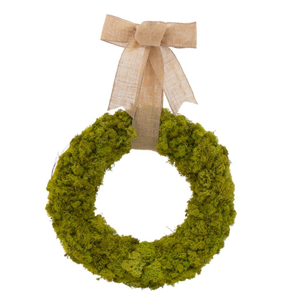 The Christmas Tree Company Moss Garden 18 in. Dried Floral Wreath-DISCONTINUED