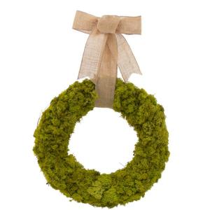 Moss Garden 18 in. Dried Floral Wreath-DISCONTINUED