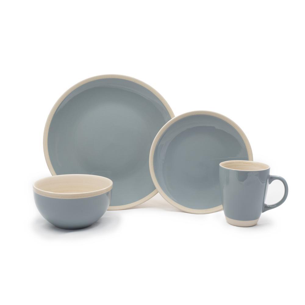 16 Piece Blue Ciro Dinnerware Set
