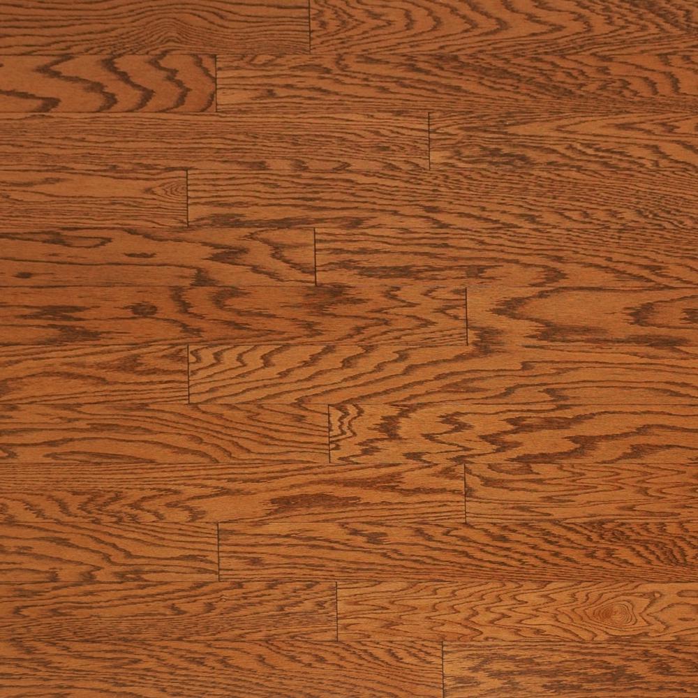 Heritage Mill Take Home Sample Brushed Oak Antique Brown Engineered Click Hardwood Flooring 5 In. X 7 In.
