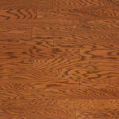 Take Home Sample - Brushed Oak Antique Brown Engineered Click Hardwood Flooring - 5 in. x 7 in.