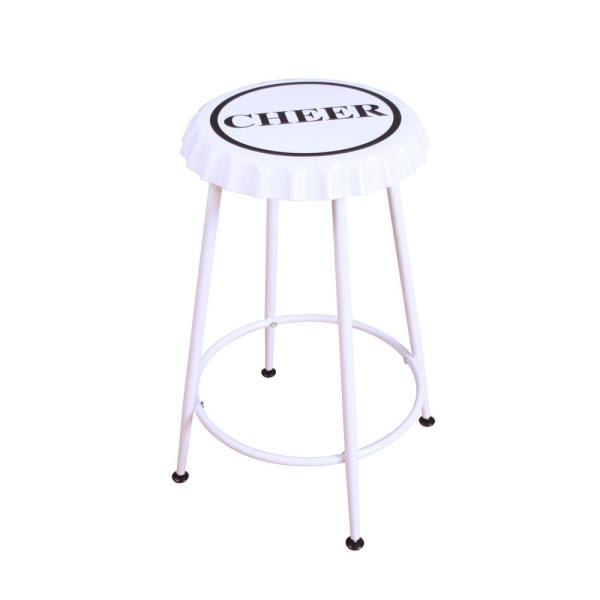 ACME Furniture Mant 24 in. White Bar Stool (Set of 2)