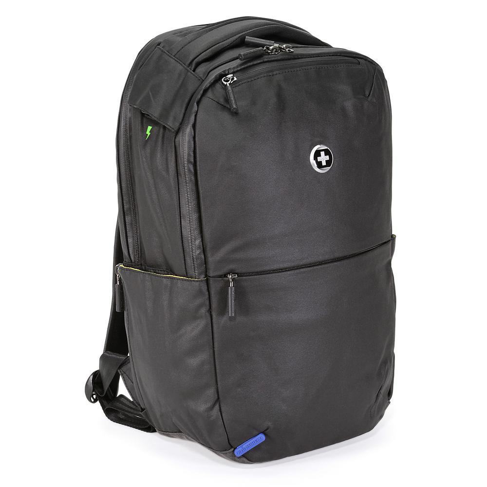 Remote Medium Black Polyester Backpack