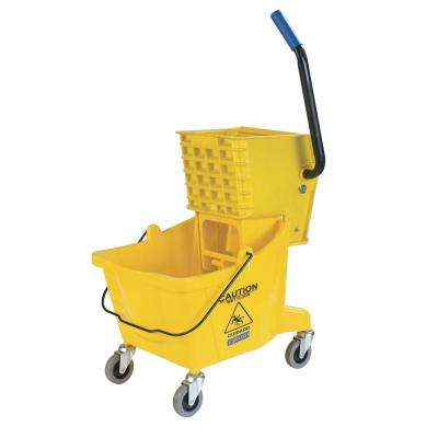 30 qt. Yellow Mop Bucket with Side Press Wringer