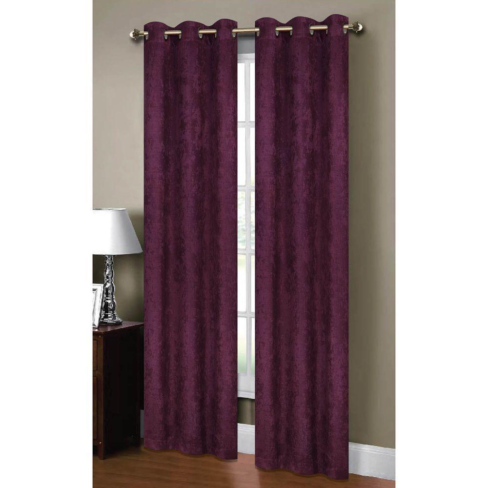 Semi Opaque Calypso Textured Room Darkening Grommet Curtain Panel