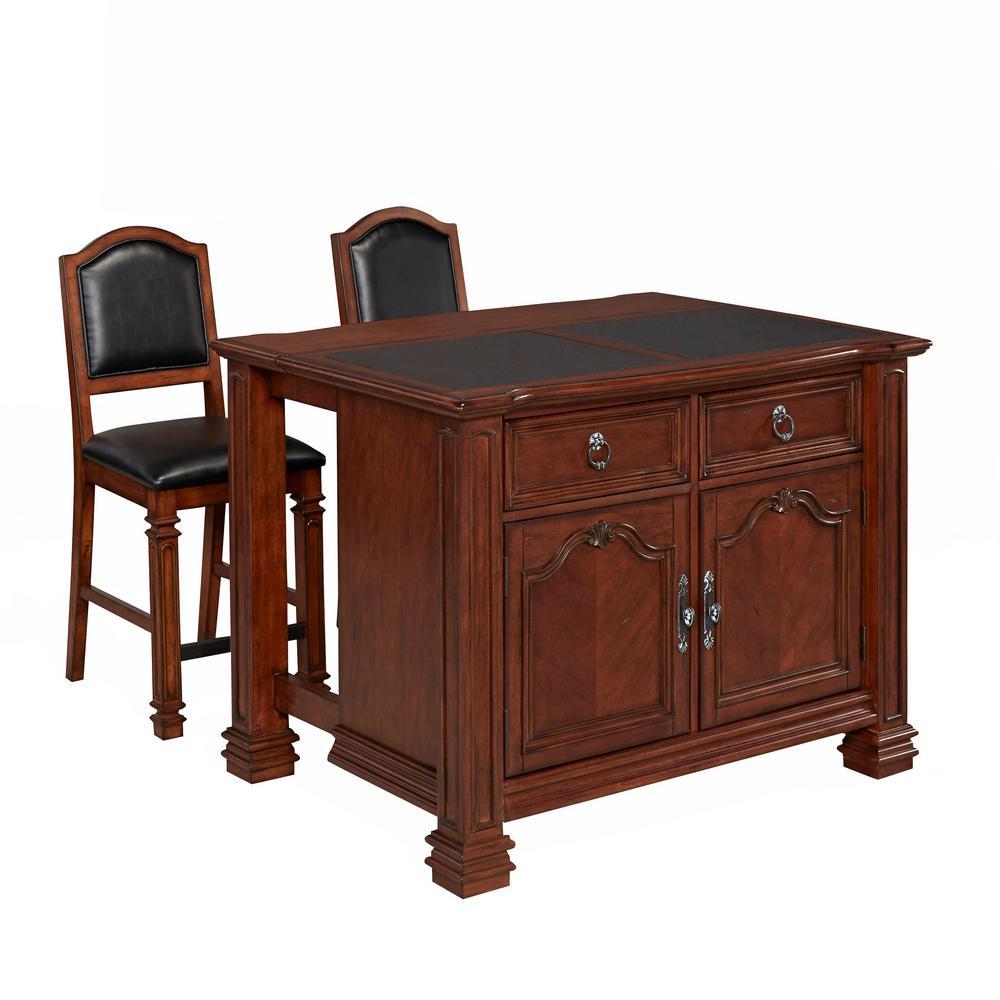 Internet #300574538. Home Styles Santiago Cognac Kitchen Island ...