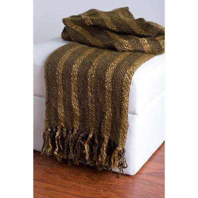 50 in. x 60 in. Brown Throw