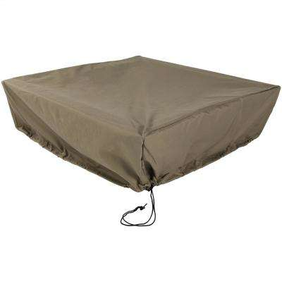 48 in. Square x 18 in. H Khaki Protective Fire Pit Cover
