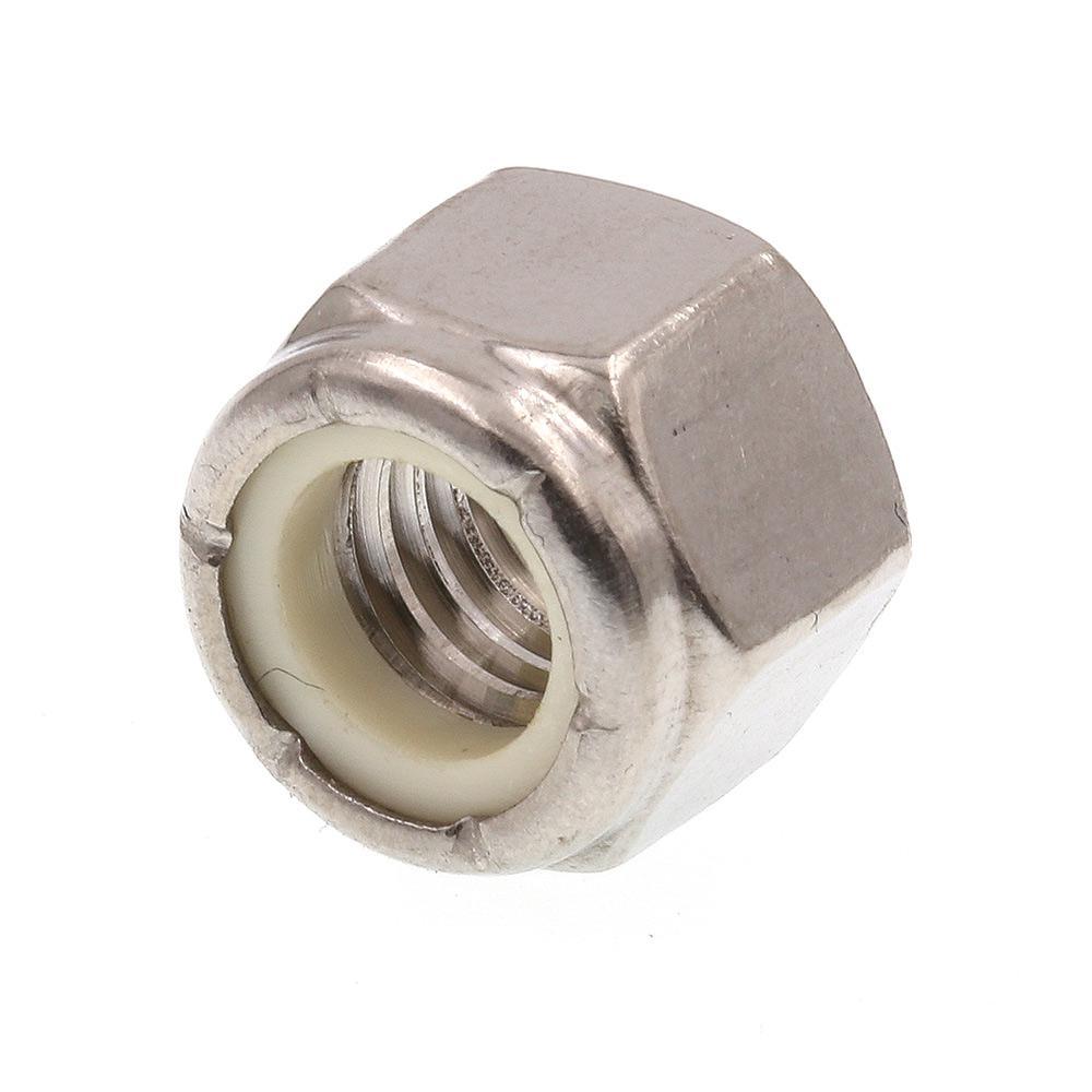 3/8 in.-16 Grade 18-8 Stainless Steel Nylon Insert Lock Nut (10-Pack)