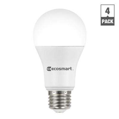 100W Equivalent Soft White A19 Basic Non-Dimmable LED Light Bulb (4-Pack)