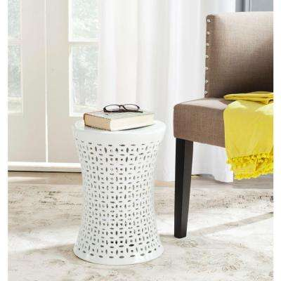 Camilla White Garden Patio Stool