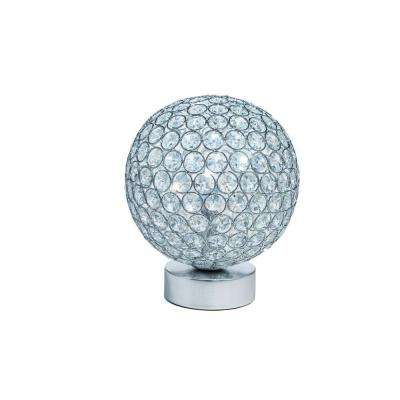 9 in. Crystal Battery Operated Table Lamp with Crystals-Pictured with Cool White LED Bulbs