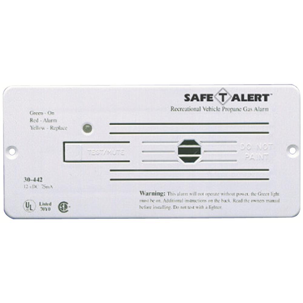 30 Series 12-Volt Safe-T-Alert Flush Mount RV Propane/LP Gas Alarm in White