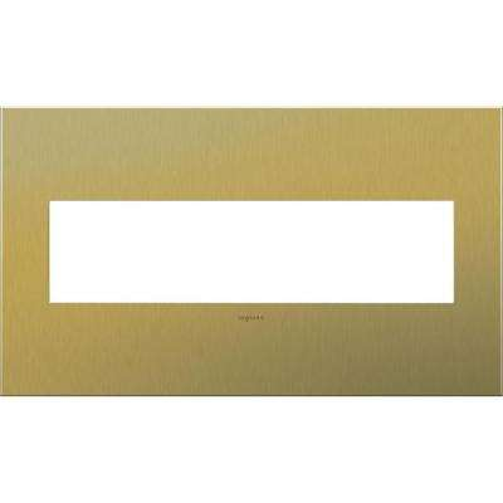 4 Gang 4 Module Wall Plate - Brushed Brass