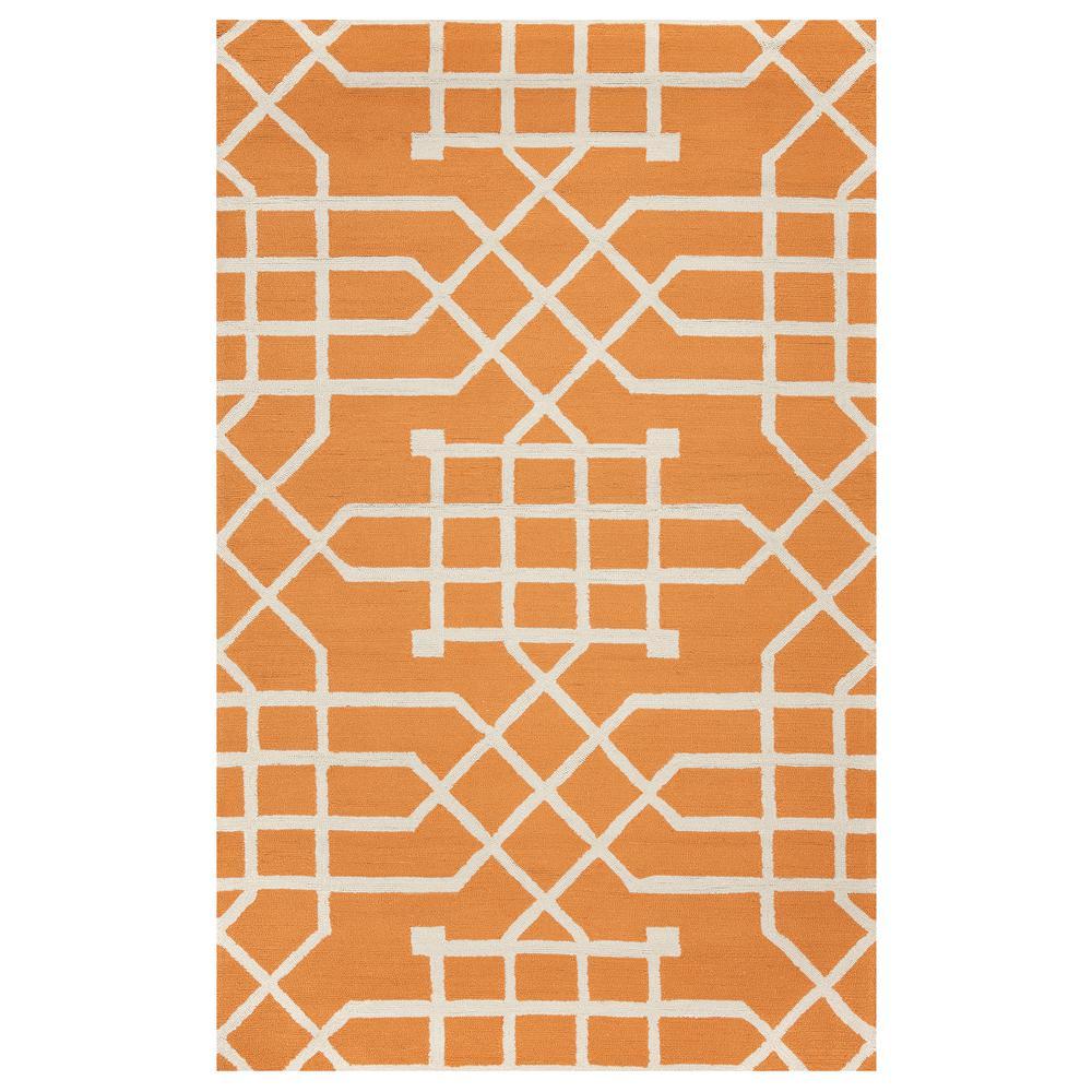 Azzura Hill Orange Geometric 5 ft. x 8 ft. Indoor/Outdoor Area Rug