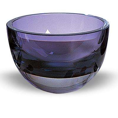 Penelope 6 in. Violet Mouth Blown European Lead Free Crystal Bowl