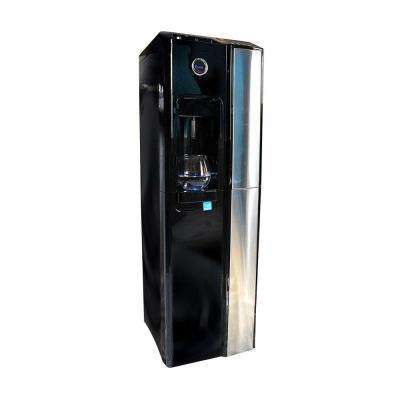 Standup Bottleless Water Cooler in Gloss Black with 1 Micron Twist Filter