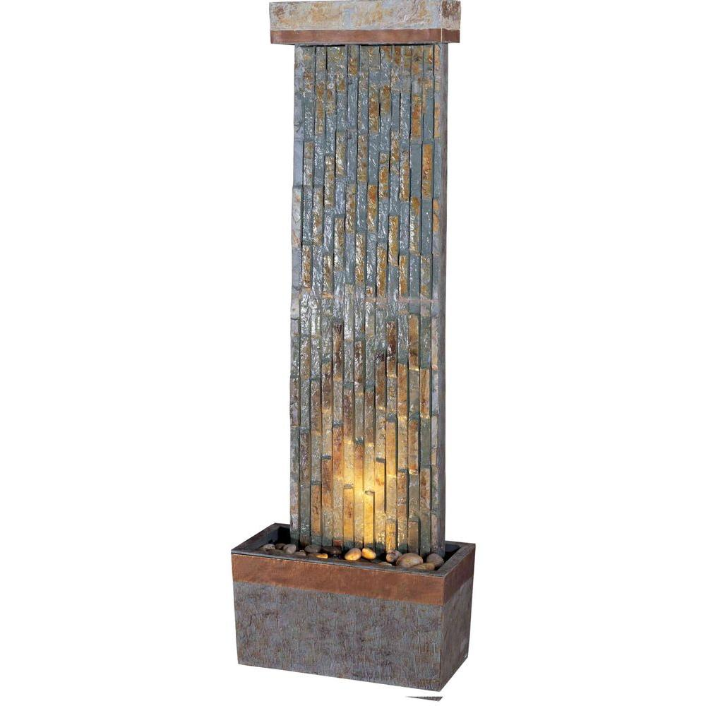 Kenroy Home Tacora Lighted Indoor and Outdoor 48 in. Floor Fountain-DISCONTINUED