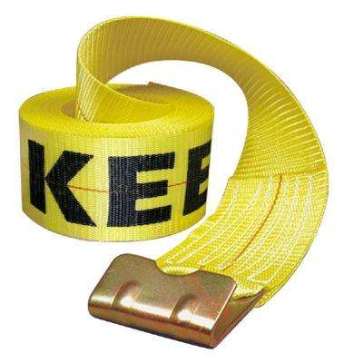 30 ft. x 4 in. x 15,000 lbs. Winch Strap with Flat Hook