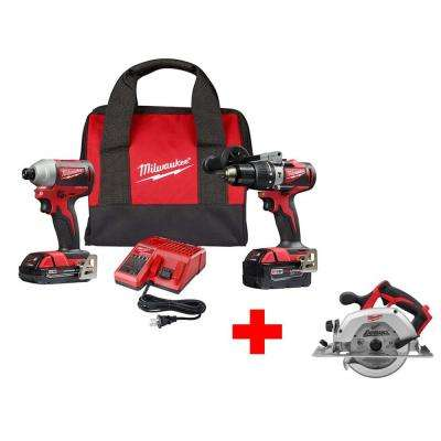 M18 18-Volt Lithium-Ion Brushless Cordless Hammer Drill and Impact Combo Kit with Free M18 6-1/2 in. Circular Saw