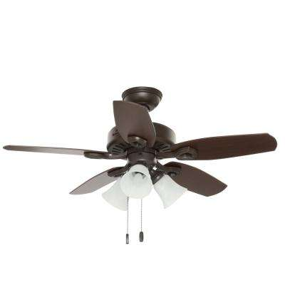 42 in. Indoor New Bronze Builder Small Room Ceiling Fan with Light Kit