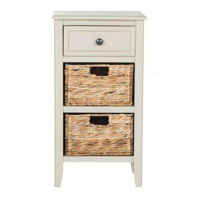 Everly Vintage Gray Storage Side Table