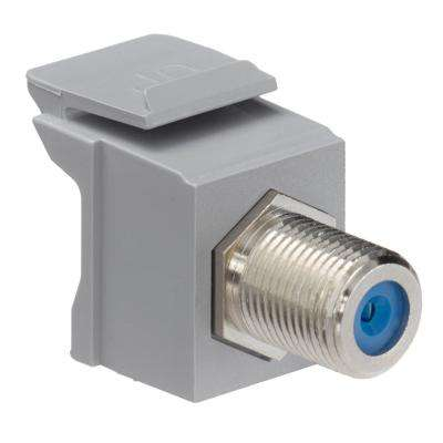 QuickPort F-Type Nickel-Plated Connector, Gray