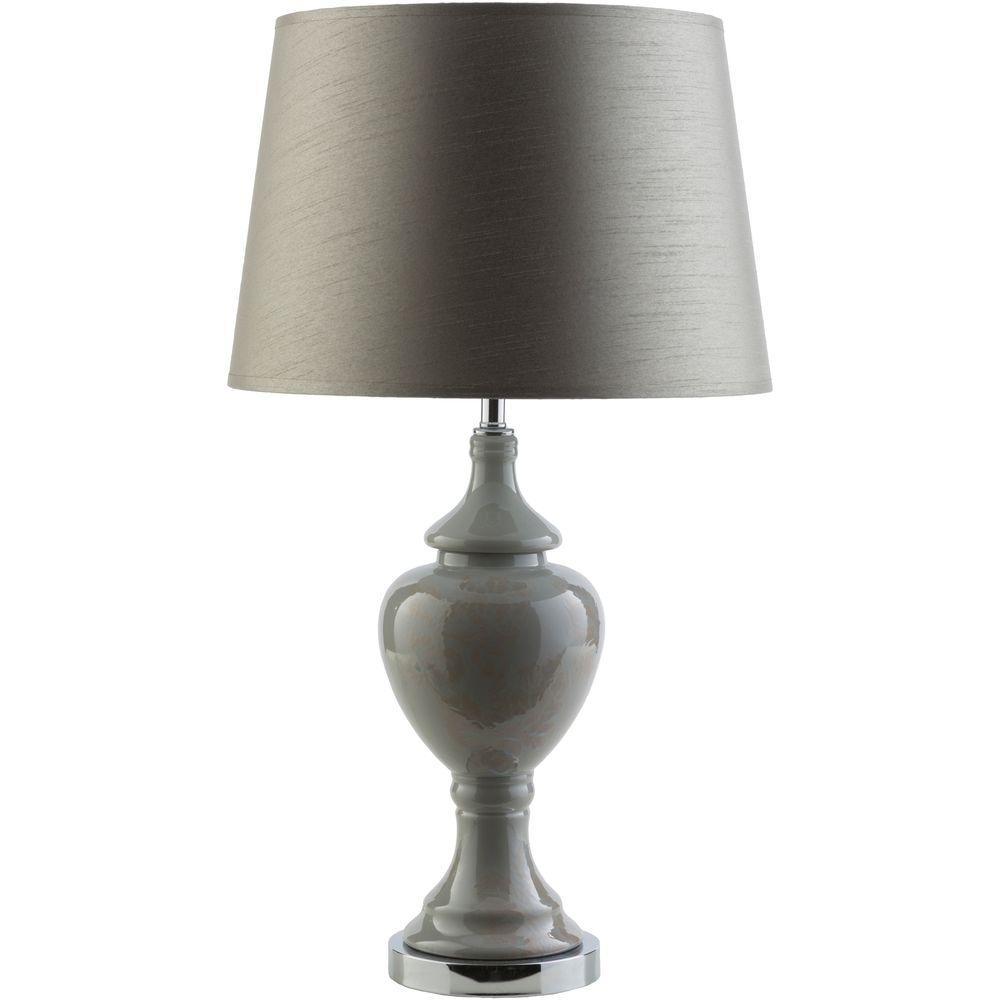 Schmidt 25 in. Gray Indoor Table Lamp