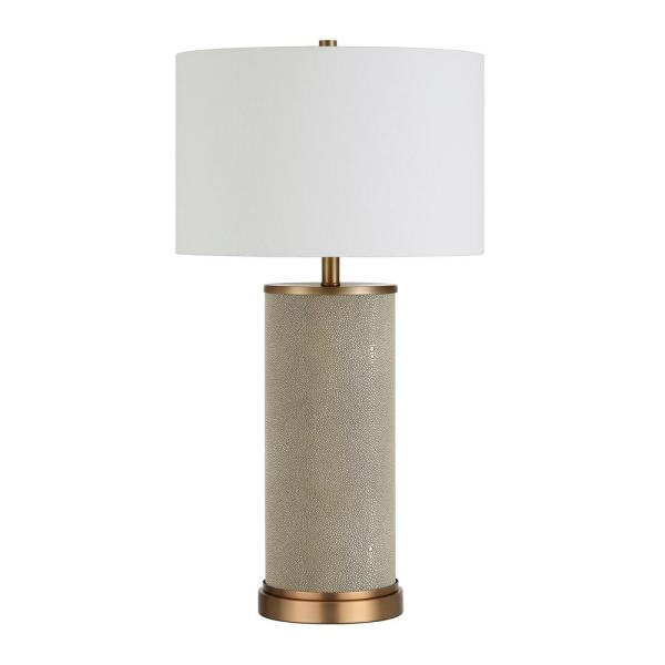 Grace 25 in. Textured Gold Table Lamp